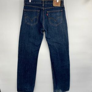 Levi's 505 straight fit blue jeans